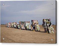 Cadillac Ranch Is A Public Art Acrylic Print