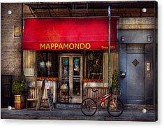 Cafe - Ny - Chelsea - Mappamondo  Acrylic Print by Mike Savad