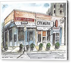 Cafe Charbon Nyc Acrylic Print