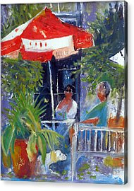 Acrylic Print featuring the painting Cafe by Gertrude Palmer