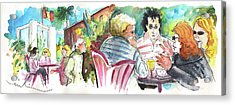 Cafe Life In Spain 03 Acrylic Print by Miki De Goodaboom