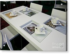 Cafe Table With Cookbooks Acrylic Print by Jaak Nilson