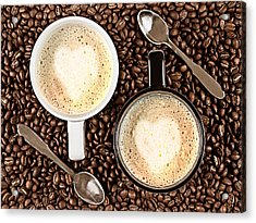 Acrylic Print featuring the photograph Caffe Latte For Two by Gert Lavsen