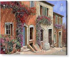 Caffe Sulla Discesa Acrylic Print by Guido Borelli