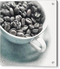 Caffeine Acrylic Print by Priska Wettstein