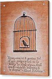 Caged Genius Acrylic Print by Canis Canon