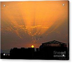 Cagliari Il Sole Muore Acrylic Print