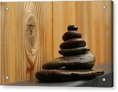 Cairn Meditation Stones Acrylic Print by Heidi Hermes