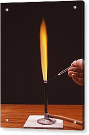 Calcium Flame Test Acrylic Print by Andrew Lambert Photography