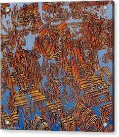 Calcutta Temple Goes To Heaven. Acrylic Print by Tautvydas Davainis