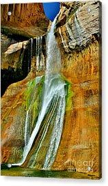 Calf Creek Falls II Acrylic Print by Ellen Heaverlo