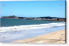 California Beach At El Granada Acrylic Print