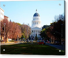California Capitol Building-3 Acrylic Print by Barry Jones