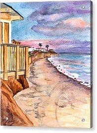 Acrylic Print featuring the painting California Coast by Clara Sue Beym