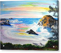California Coast Acrylic Print by Susan  Clark