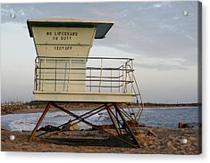 California Lifeguard Tower Acrylic Print by Maureen Bates