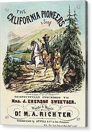 California Pioneers, C1850 Acrylic Print by Granger