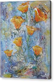 California Poppies Acrylic Print by Chaline Ouellet
