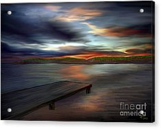 Acrylic Print featuring the painting California Sky by Rand Herron