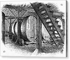 California: Winery, C1890 Acrylic Print by Granger