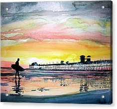 Acrylic Print featuring the painting Calling It A Day by Tom Riggs