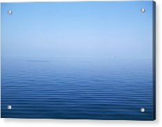 Calm Blue Water Disappearing Into Acrylic Print by Axiom Photographic