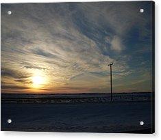 Calm Prairie Sunset Acrylic Print by Tracy Fallstrom