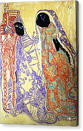 Calvary Acrylic Print by Gloria Ssali