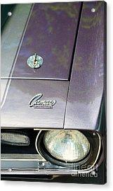 Camaro Ss With Hood Pin Acrylic Print by Paul Ward