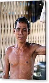 Acrylic Print featuring the photograph Cambodian Dignity by Nola Lee Kelsey