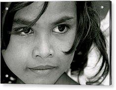 Cambodian Eyes Acrylic Print
