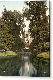 Cambridge - England - St. Johns College Chapel From The River Acrylic Print by International  Images