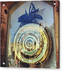 #cambridge #steampunk #clock Acrylic Print