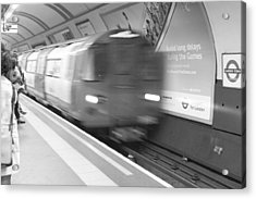 Camden Tube Acrylic Print by Kevin Bates