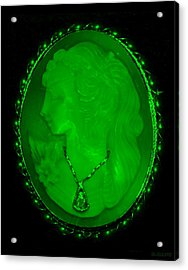 Cameo In Green Acrylic Print by Rob Hans