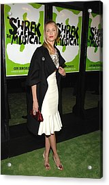 Cameron Diaz Wearing A Bill Blass Dress Acrylic Print by Everett