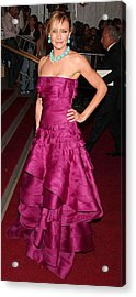 Cameron Diaz Wearing A Dior Gown Acrylic Print by Everett