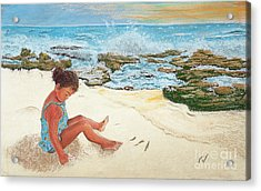 Camila And The Carribean Sea Acrylic Print by Jim Barber Hove