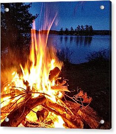 Campfire Acrylic Print by Christopher Campbell