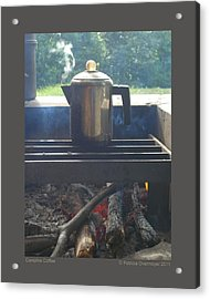 Campfire Coffee Acrylic Print by Patricia Overmoyer