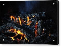 Acrylic Print featuring the photograph Campfire by Fran Riley