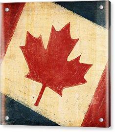 Canada Flag Acrylic Print by Setsiri Silapasuwanchai