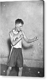 Canadian Boxer Acrylic Print by Topical Press Agency