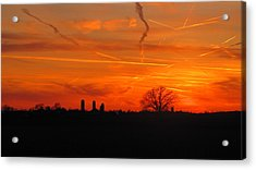 Canadian Countryside Sunset 1588 Acrylic Print by Maciek Froncisz