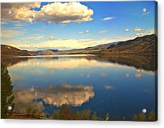Canadian Lake 1437 Acrylic Print by Larry Roberson