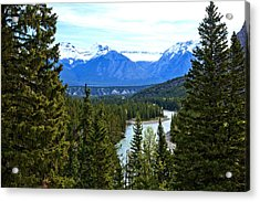 Canadian Lake 1691 Acrylic Print by Larry Roberson