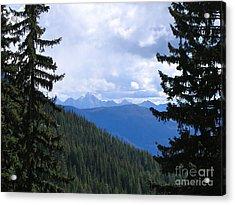 Canadian Rockies Acrylic Print by Kim Frank