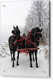 Canadian Team In A Winter Wonderland Acrylic Print