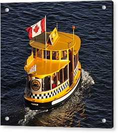 Acrylic Print featuring the photograph Canadian Water Taxi by MaryJane Armstrong