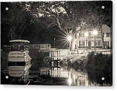 Canal Boat Acrylic Print by Scott Faunce
